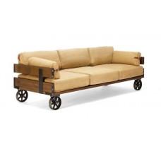 sofá rústico exótico